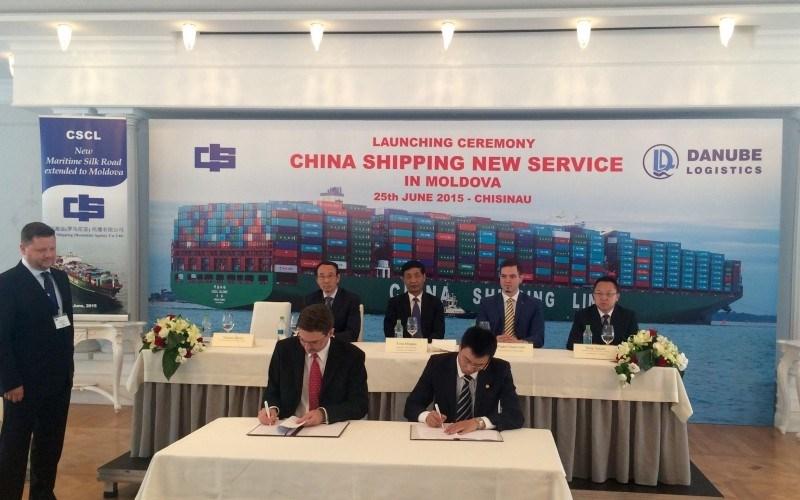 China Shipping Container Lines își extinde serviciile în portul internațional liber Giurgiulești